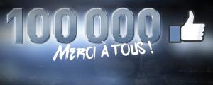 Merci 100 000 visites